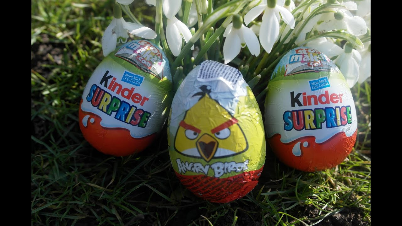 Outdoor Kinder Outdoor Opening Kinder Surprise Eggs Story Makers Edition Easter Angry Birds Egg