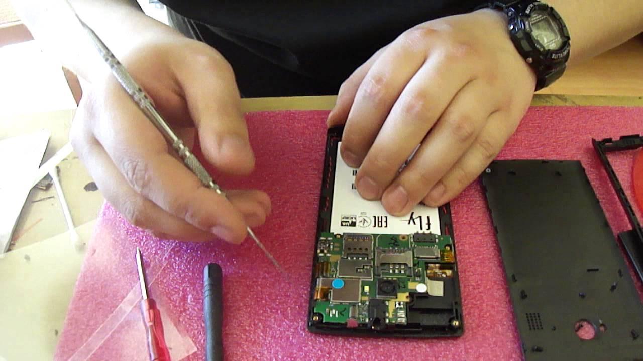 Ремонт FLY fs454 замена сенсора (купил в китае) - YouTube