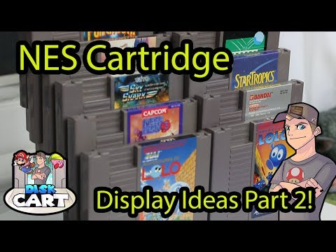 NES Cart Display Ideas for a Game Collection / Game Room PART 2