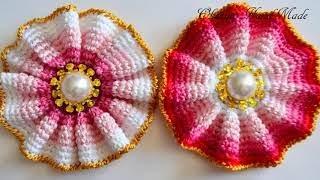 Цветы крючком. Мастер класс и схема. Crochet flowers