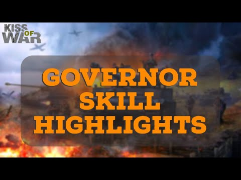 Governor Skills Highlights (83 MILLION ZEROED) - Kiss of War