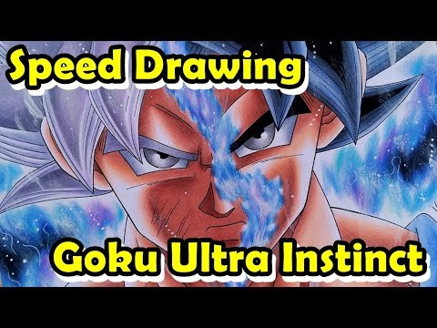 Speed Drawing Goku Mastered Ultra Instinct/Migatte no Gokui (DRAGON BALL SUPER)