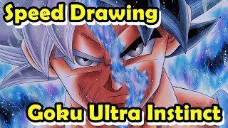 Speed Drawing Goku Mastered Ultra Instinct/Migatte no Gokui (DRAGON BALL SUPER)