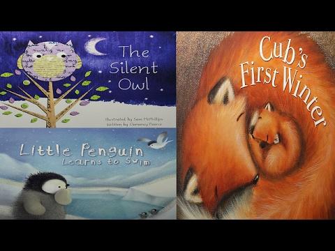 3 Children's Bedtime Stories Compilation Video -Silent Owl-Cubs First Winter-Little Penguin