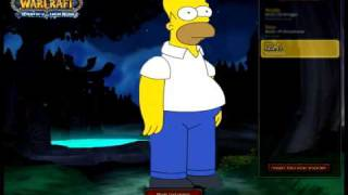 Homer Simpson in WoW