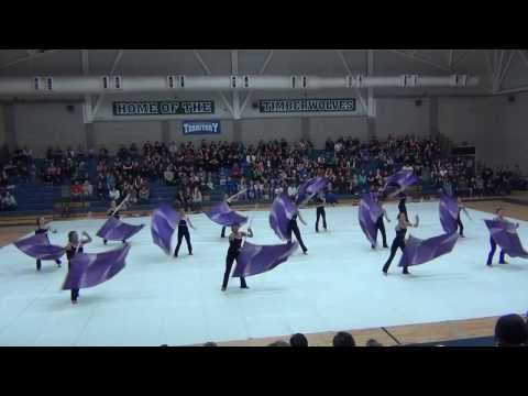 Tulare Western High School Winterguard - SJVCGPR Competition - 1/25/2014