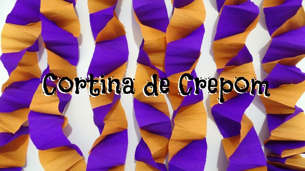 Decoraç u00e3o de festa cortina de crepom YouTube -> Decoração De São João Com Papel Crepom