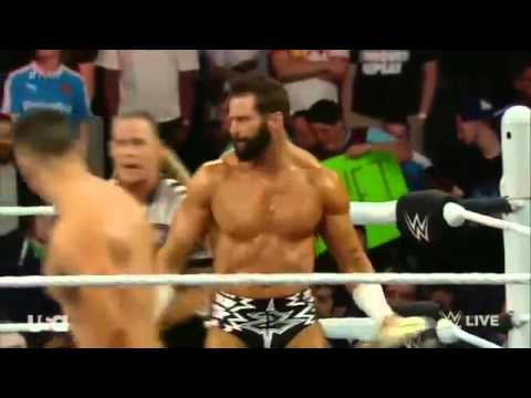 The Miz Vs. Zack Ryder - Intercontinental Championship Match - WWE RAW - 04/04/2016