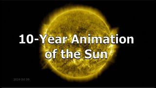 10-Year Animation of the Sun