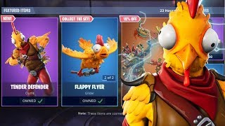 "*NEW* ""TENDER DEFENDER"" CHICKEN SKIN IN FORTNITE! - ITEM SHOP UPDATE! (Fortnite Live)"