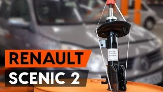 How to replace a front shock strut on RENAULT SCENIC 2 (JM) [TUTORIAL AUTODOC]