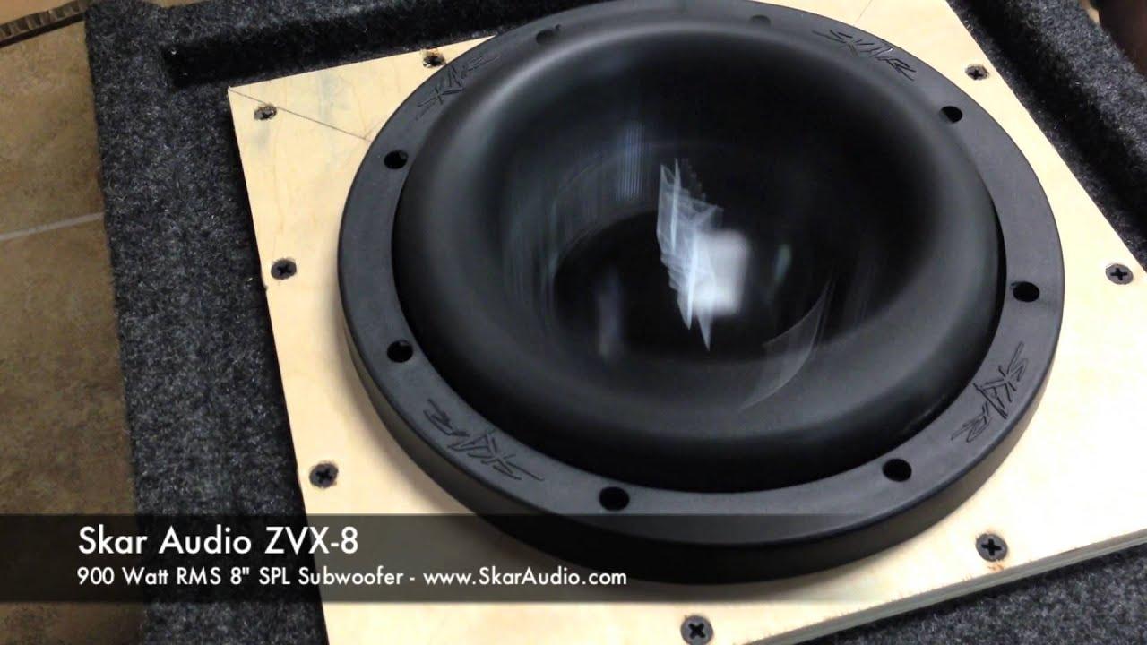 Skar Audio Zvx 8 Spl 8quot 900 Watt Rms Subwoofer In Action