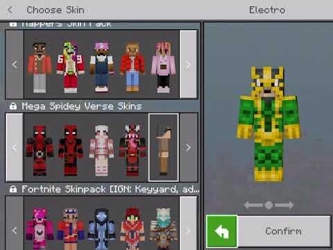 All Minecraft Spider-Man Skins (including Deadpool)