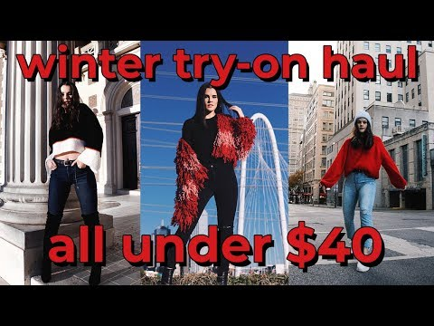 Affordable Winter Try-on Clothing Haul