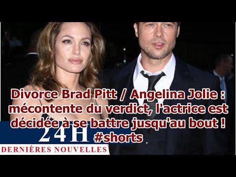 Divorce Brad Pitt / Angelina Jolie : mécontente du verdict, l'actrice est décidée à se battre j…