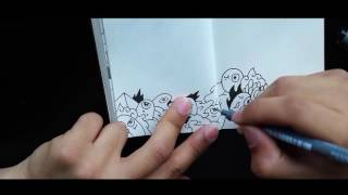 drawing cute little monsters