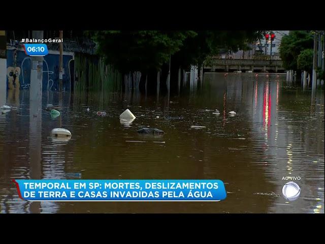 Forte chuva provoca alagamentos em São Paulo