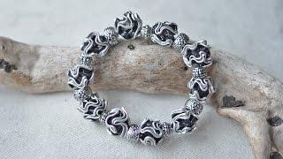 DIY - Armband mit Perlen aus Nespressokapseln #1/Upcycling/Schmuck selbermachen