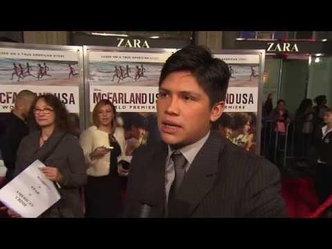 McFarland, USA World Premiere: Johnny Ortiz actor