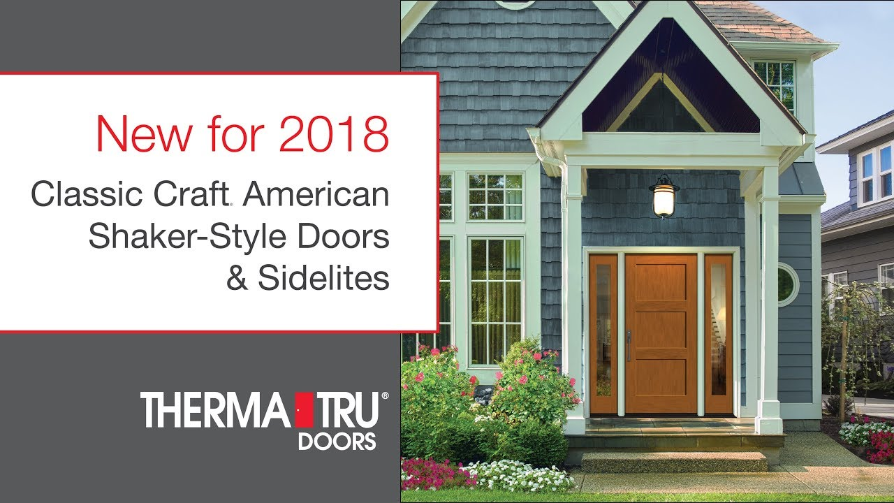 New for 2018 Classic Craft American Shaker-Style Doors \u0026 Sidelites  sc 1 st  YouTube & New for 2018: Classic Craft American Shaker-Style Doors \u0026 Sidelites ...