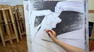 028 Как научиться рисовать карандашом? видеоурок(Какие есть свойства и возможности у простого карандаша? Как рисовать фигуру человека? Как рисует профессио..., 2014-10-02T17:24:30.000Z)