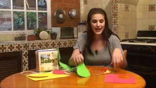 Figuras de frutas con foamy para niños pequeños
