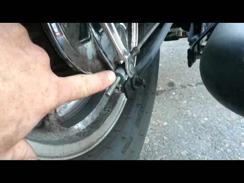 How to adjust the rear brake on a honda shadow