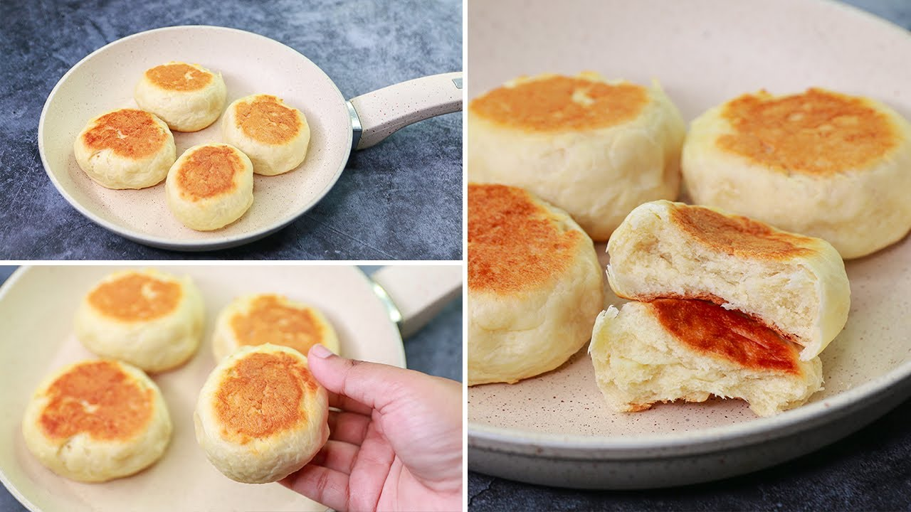 Bun in Fry Pan | Egglees & Without Oven | Yummy