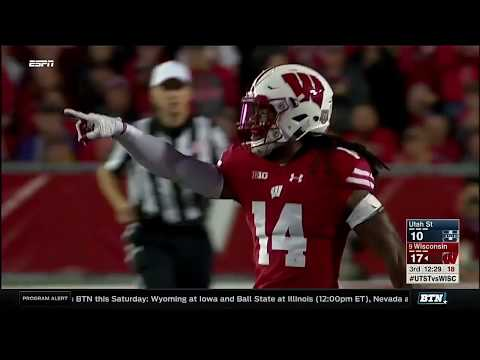 Utah State at Wisconsin - Football Highlights