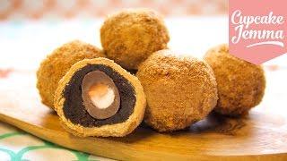 How to Make Creme Egg Scotch Eggs AND Caramelised White Chocolate| Cupcake Jemma thumbnail