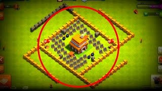 Clash of Clans - ''THE DEADLY 4-DROP'' - Town Hall 5 (CoC TH5) Troll Base