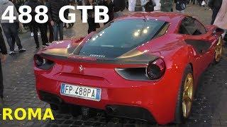 FERRARI 488 GTB a ROMA - Roter Ferrari in Rom - Red Ferrari in Rome