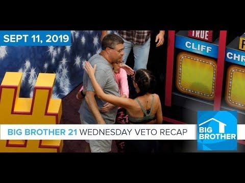 Big Brother 21 Wednesday Night Sept 11 Veto Recap #BB21
