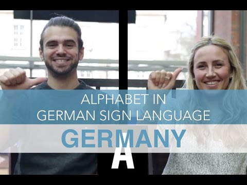 Alphabet In German Sign Language