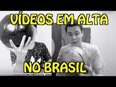 Reagindo aos vídeos em alta no YouTube BR
