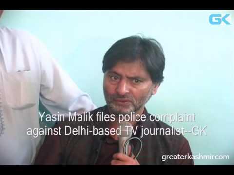 Yasin Malik files police complaint against Delhi-based TV journalist