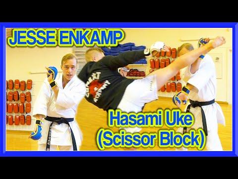 Karate Scissor Block (Hasami Uke) for Circular Kicks | Jesse Enkamp