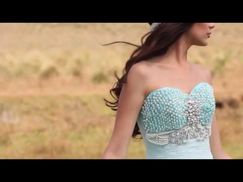 Beaded Strapless Quinceanera Dress by Ragazza Fashion Style V76-376