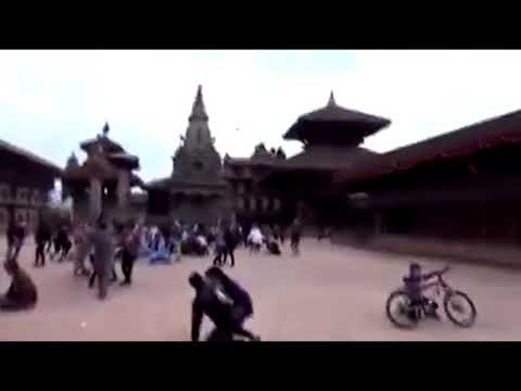 Big earthquake in Nepal 2015 AD. So many people dath & many building destroyed.