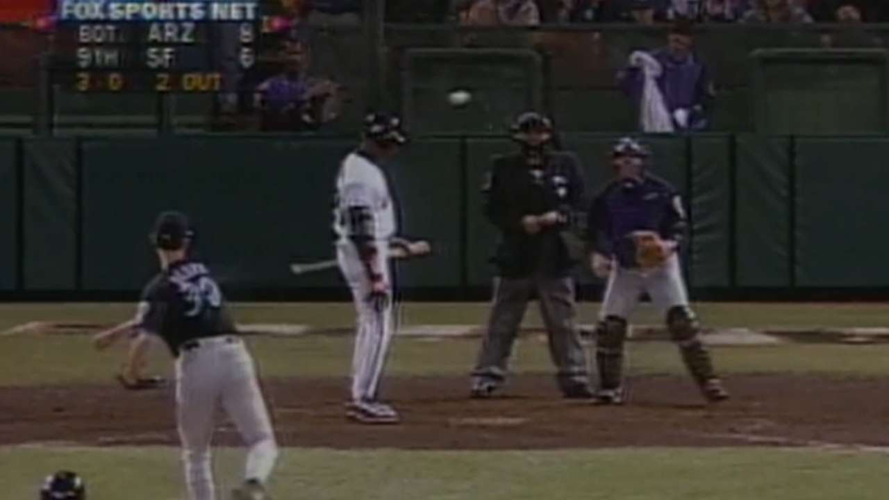 20 years ago today, the Diamondbacks walked Barry Bonds with the bases loaded up 8-6 in the 9th inning
