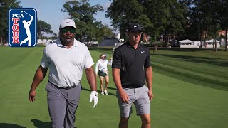 Brooks Koepka and Bo Jackson in pro-am at the BMW Championship 2019