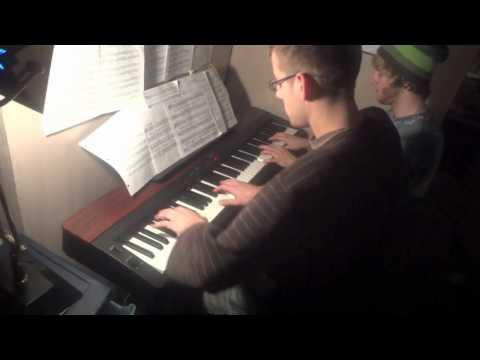 A Kyle Landry Christmas - Carol of the Bells - Piano Duet FT. Frank Tedesco