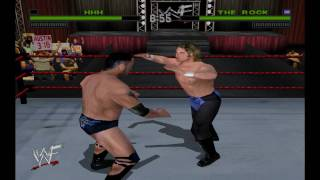 WWF Attitude Triple H Vs The Rock HD
