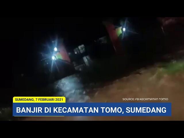 BANJIR RENDAM JALAN RAYA BANDUNG-CIREBON DI KAWASAN TOMO SUMEDANG