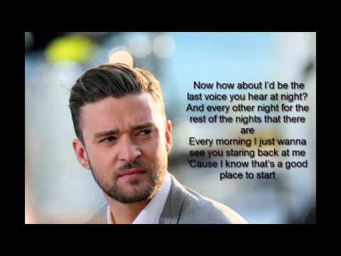 Justin Timberlake-Not a bad Thing (LYRICS)