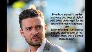 Justin Timberlake-Not a bad Thing (LYRICS)