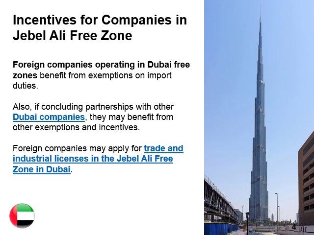 Jebel Ali Free Zone in Dubai