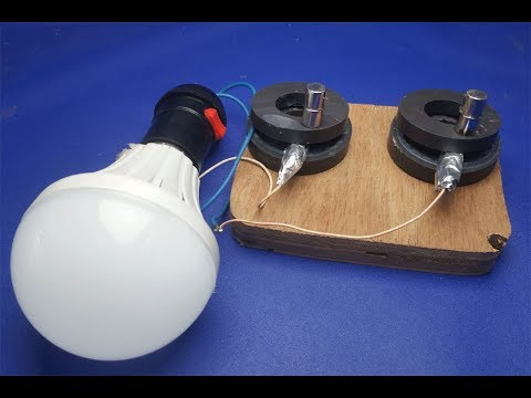 Free Energy Light bulbs - using Magnet And​ Coal stones