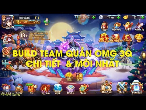 Build Team QUẦN CHI TIẾT Và MỚI Nhất, Cặp Đôi Vu Cát & Tả Từ Bá Đạo    ACC 6 Triệu Lực Chiến