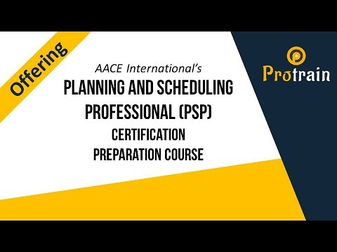 Planning and Scheduling Professional (PSP) Certification Preparation ...